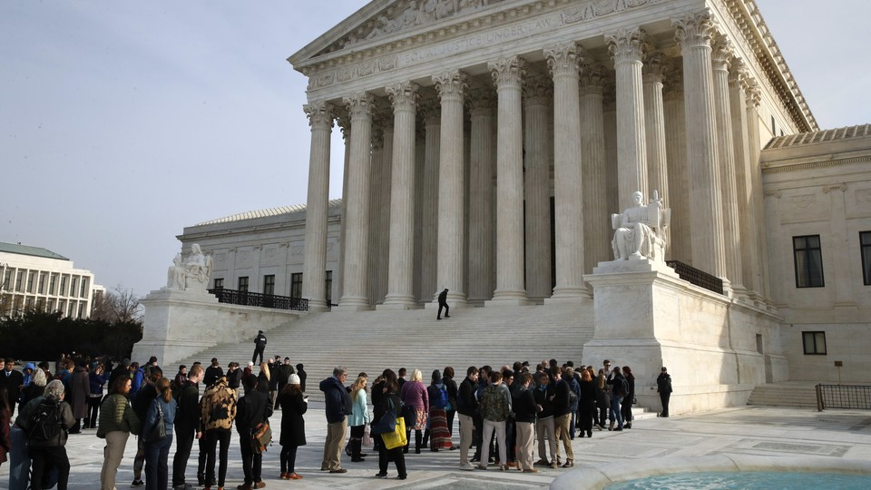People outside of the Supreme Court building