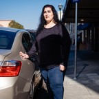 photo: Lorrine Paradela, one of 125 participants in a basic income experiment in Stockton, California, used some of her $500 a month income to purchase a newer car.