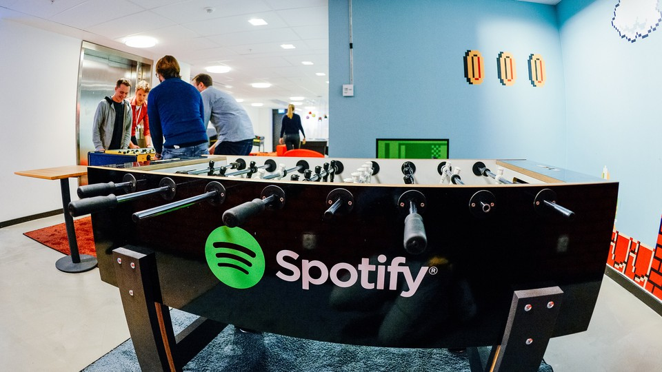 The headquarters, in Stockholm, of the music-streaming company Spotify