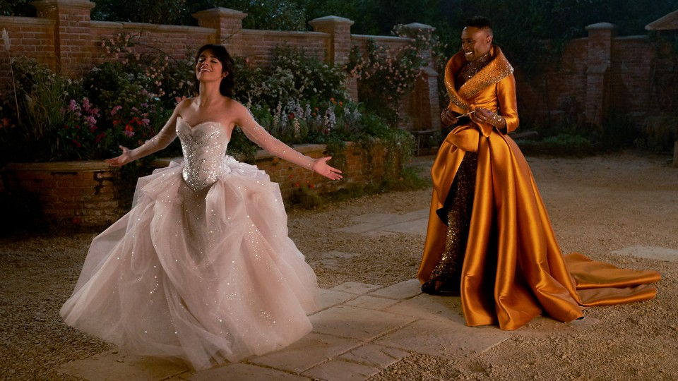 "Camila Cabello and Billy Porter appear in ""Cinderella."""