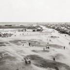A photo of a Somali refugee camp at Liboi, Kenya, in 1992.