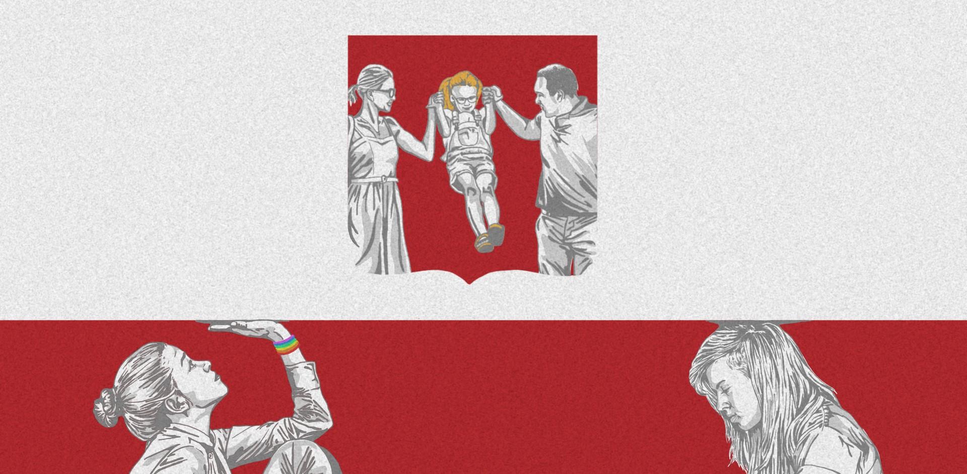 An illustration of the Polish flag