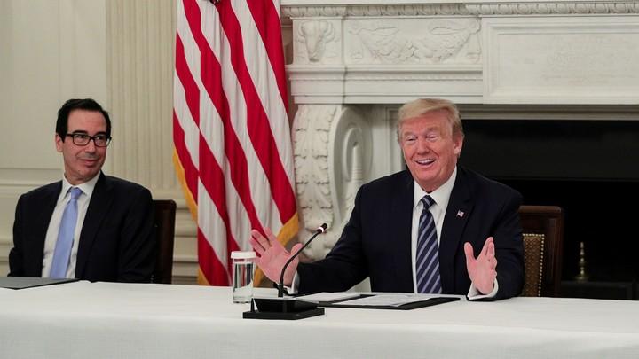 Donald Trump and Steven Mnuchin