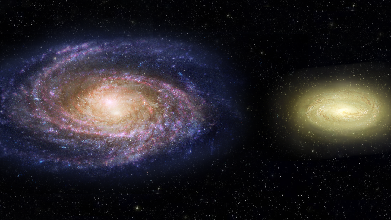 An artist's rendering of the Milky Way
