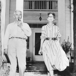 William Faulkner and his wife Estelle in 1955