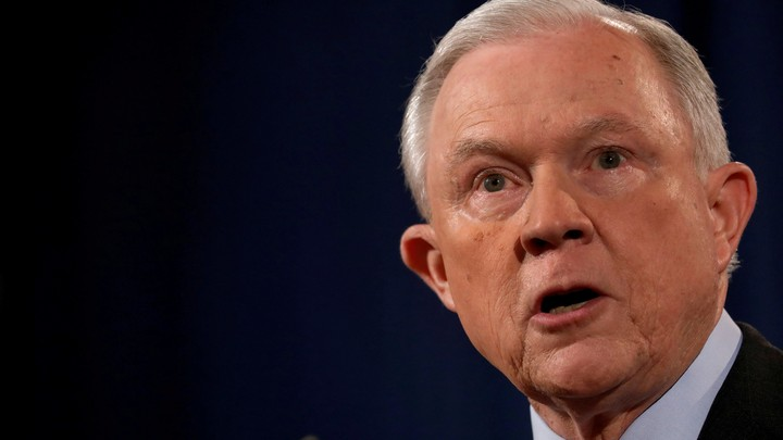 U.S. Attorney General Jeff Sessions speaks at a news conference on July 20, 2017.