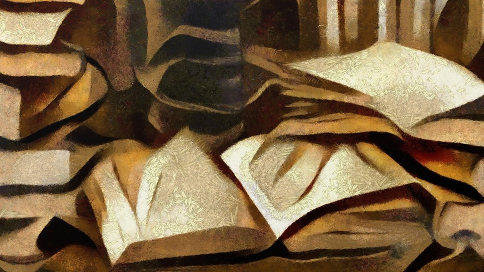 An illustration of books