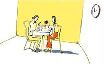 illustation women dining