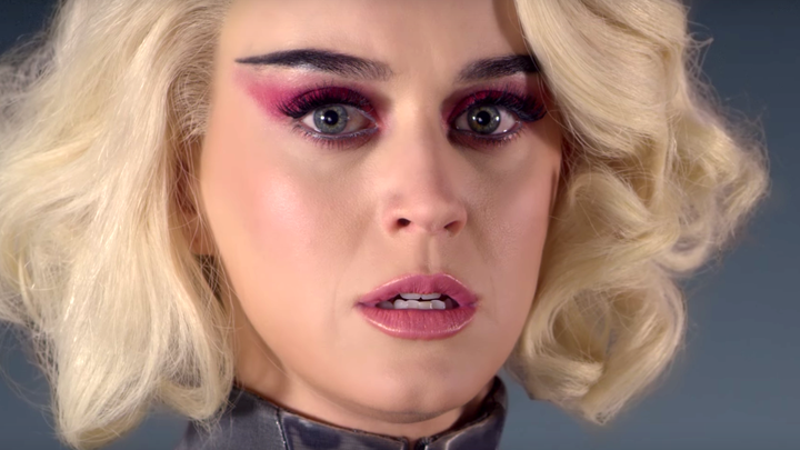 A still from Katy Perry's 'Chained to the Rhythm' video