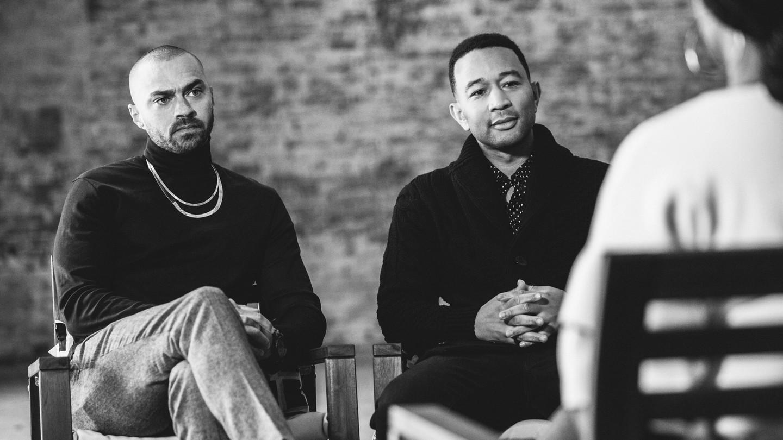 Jesse Williams and John Legend, December 2017