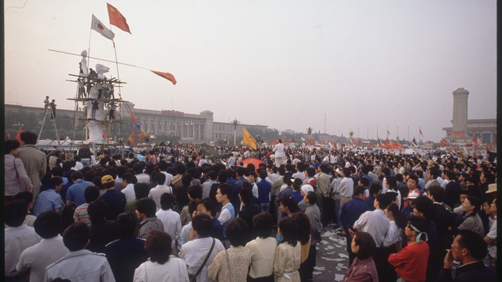 As a final act of protest, students erected a statue called the Goddess of Democracy in Beijing's Tiananmen Square in 1989.
