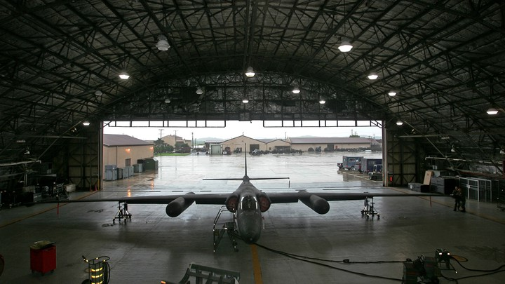A U-2 plane at an airbase in South Korea