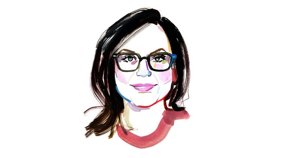 Watercolor portrait of Amanda Mull