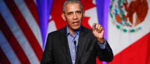 Barack Obama is pictured.