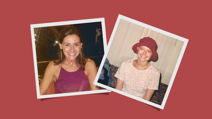 Holly Becker today (left) and in her 20s (right), when she had cancer