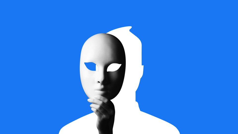 Facebook avatar with a mask over it