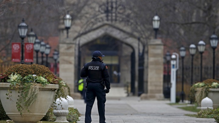A campus police officer at the University of Chicago