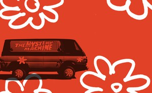 """illustration of """"The Mystery Machine"""""""