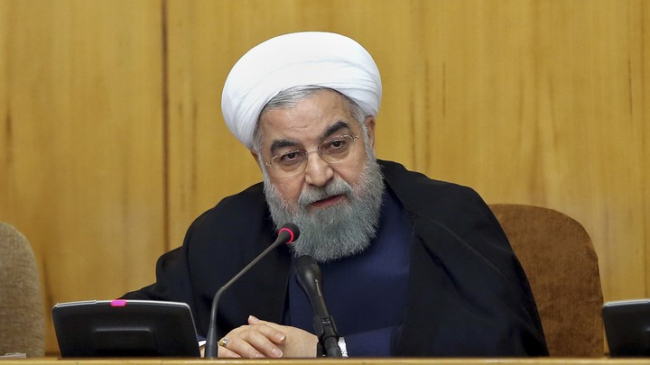 President Hassan Rouhani speaks during a cabinet meeting in Tehran on July 19, 2017.