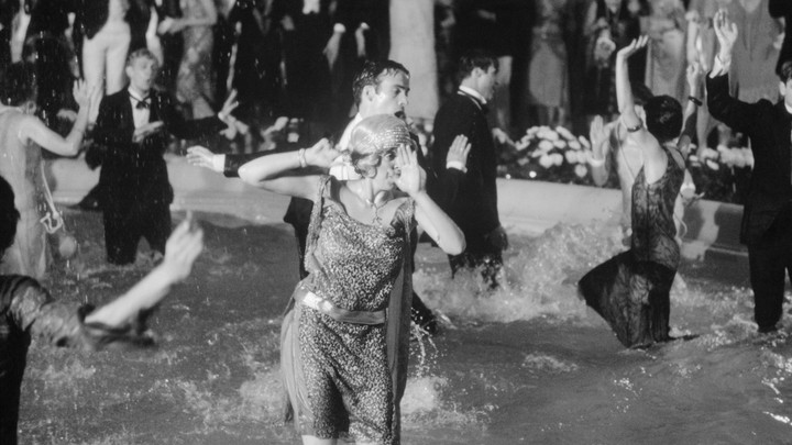 Partygoers do the Charleston in a scene from the 1949 'Great Gatsby' movie.