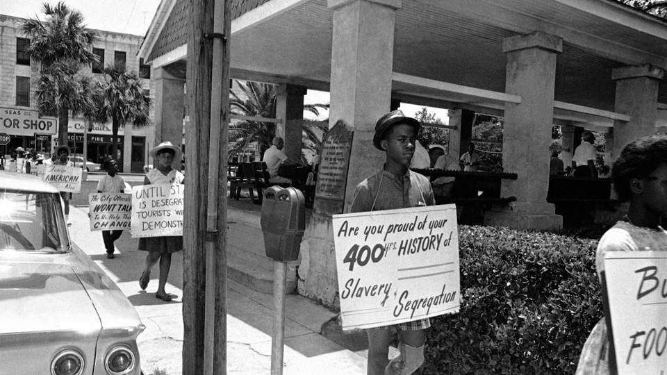 A daytime protest on June 11, 1964, of the slave market in St. Augustine, Florida
