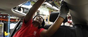 a photo of an auto worker