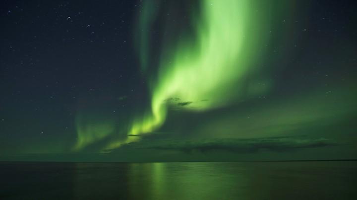 The aurora borealis over Canada in 2016