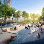 a rendering of a dog park in Chicago's Lincoln Yards