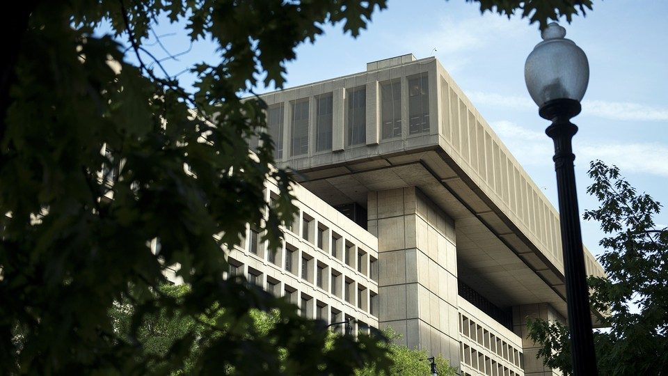 A view of the J. Edgar Hoover Building, the headquarters for the Federal Bureau of Investigation