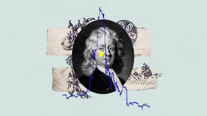An illustration of Sir Issac Newton