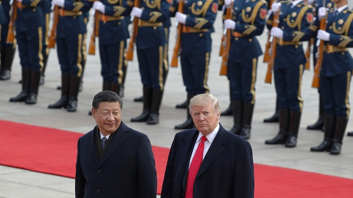 Trump and Xi meet in Beijing in 2017.