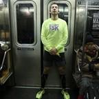 A New York subway passenger