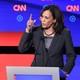 Kamala Harris speaks at the CNN democratic debate.