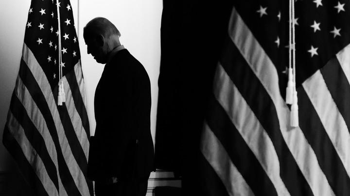 Joe Biden in silhouette