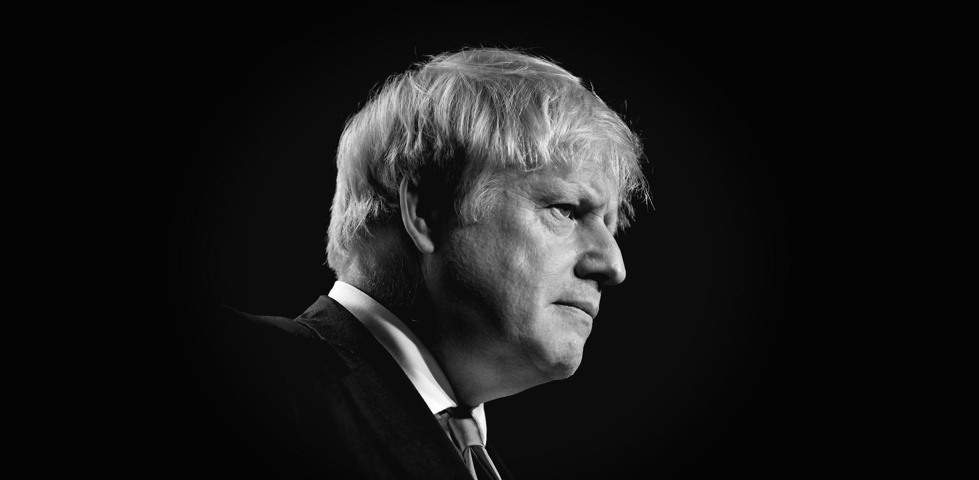 A portrait of Boris Johnson