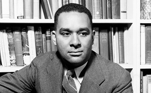 A portrait photograph of the author Richard Wright