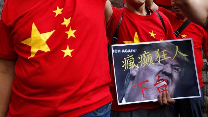 Pro-China demonstrators