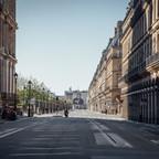The Rue de Rivoli in Paris is deserted during coronavirus lockdown.