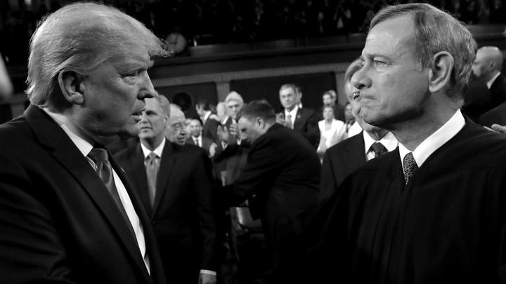 Donald Trump and John Roberts