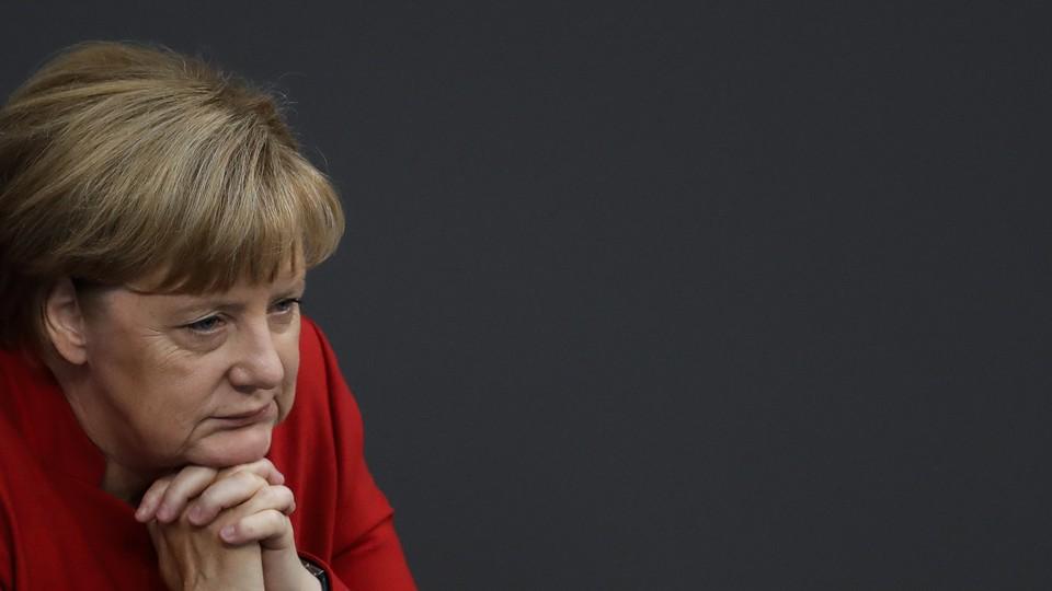 German Chancellor Angela Merkel attends the budget 2017 debate at the German parliament Bundestag in Berlin on Wednesday.