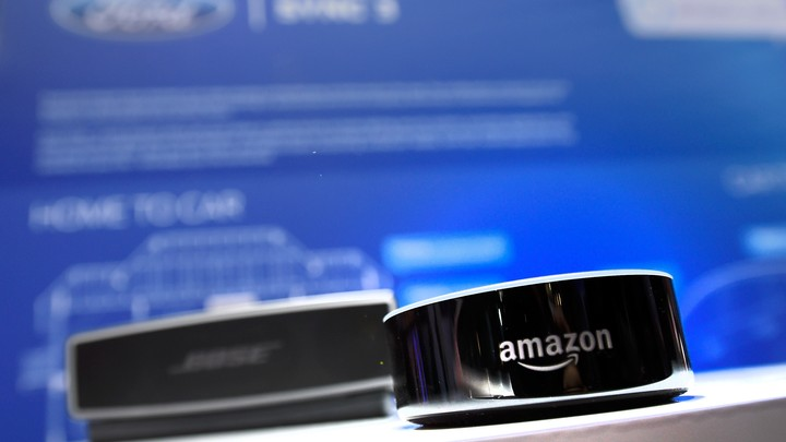 An Amazon Echo smart speaker