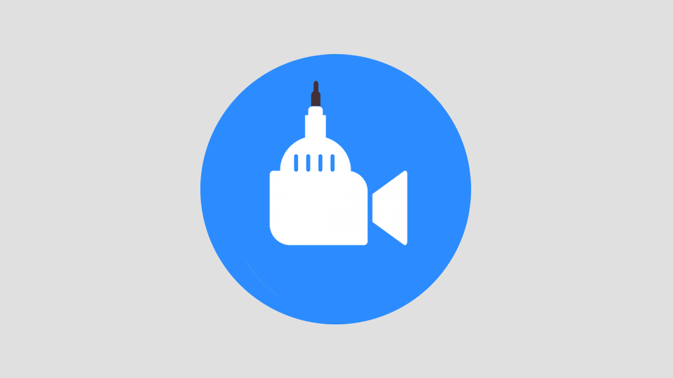The bizarre offspring of the Capitol building and the Zoom logo