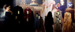 A visitor stands in front of an exhibition at of the House of European History in Brussels