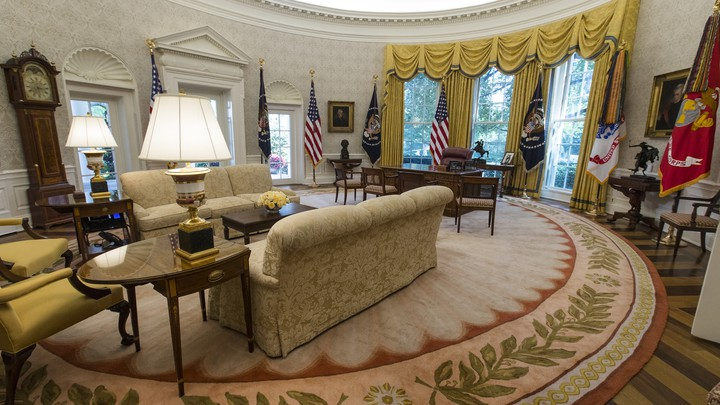 Donald Trump's newly renovated Oval Office
