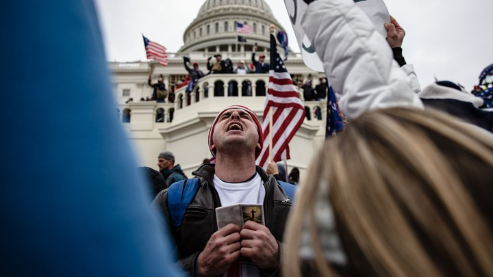 A Capitol rioter on January 6