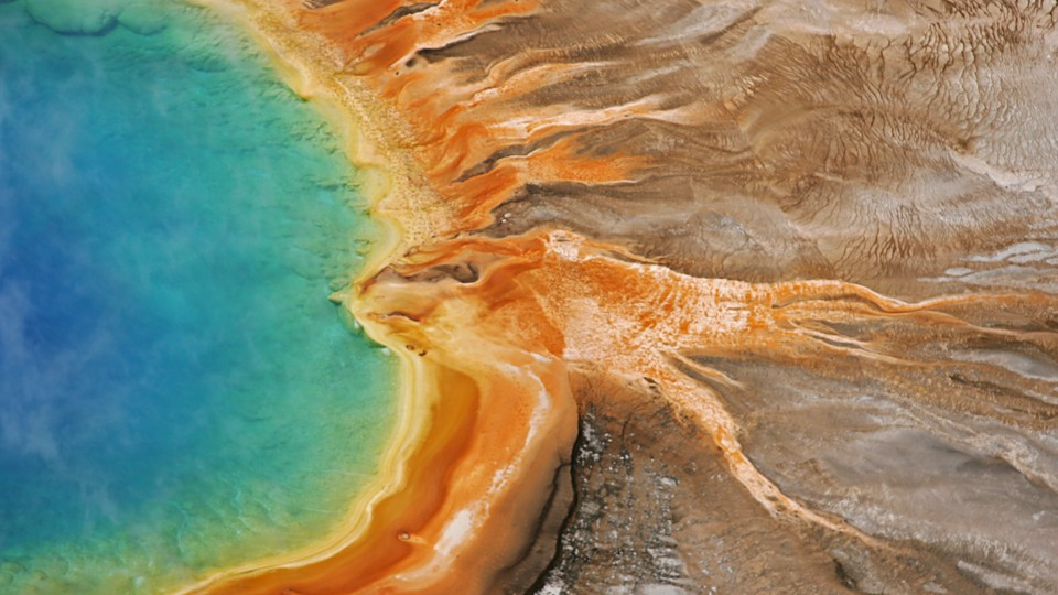 Yellowstone's rainbow-colored Grand Prismatic Spring