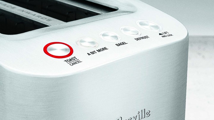 "A Breville toaster with the ""A Bit More"" button"