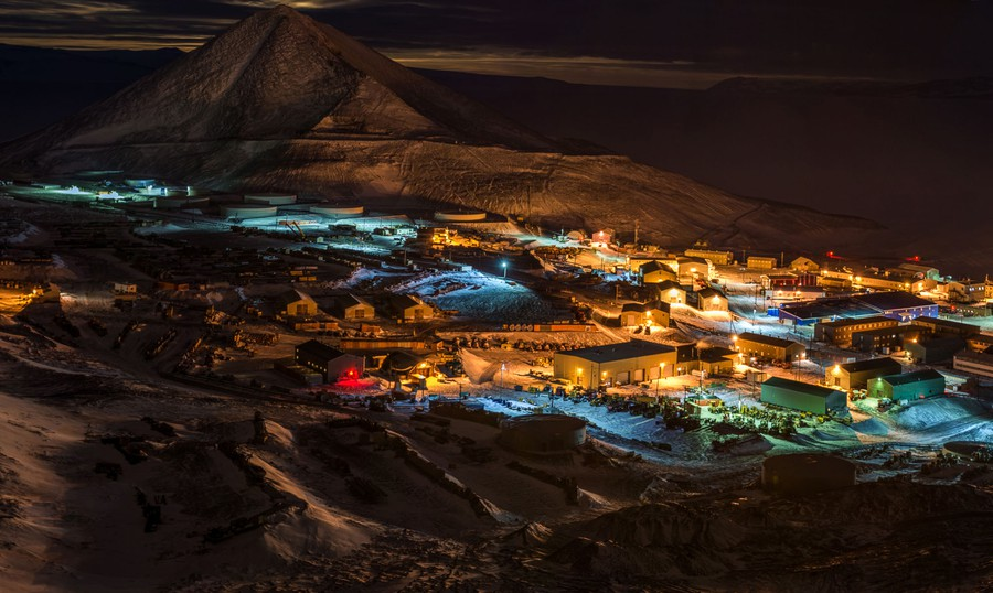 McMurdo Station on Ross Island