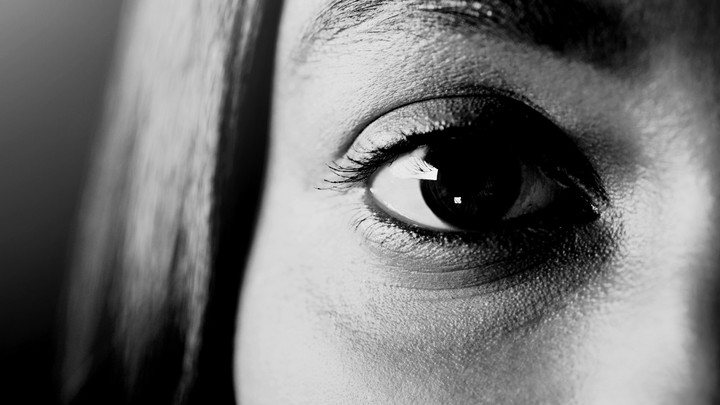 a young girl's eye