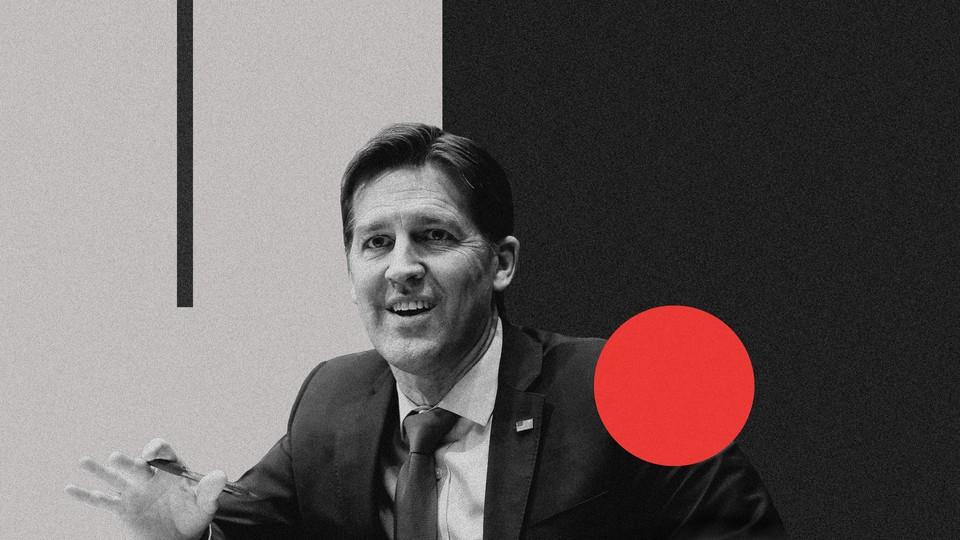 A photo of Senator Ben Sasse within a larger photo illustration